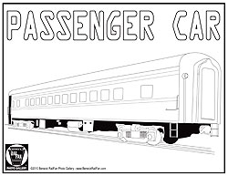 Passenger Train Cars Coloring Pages Coloring Pages